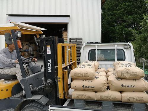 エチエ農産に玄米を引き取りに