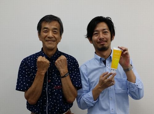 濱田氏とのツーショットです