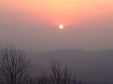 来日山頂からの日の出