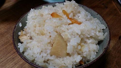 タケノコご飯を炊きました