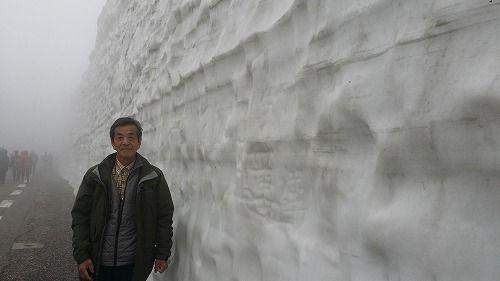 雪の壁です