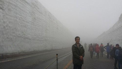 早速雪の大谷を見に行きました