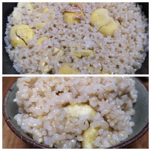 発芽モード玄米栗ご飯