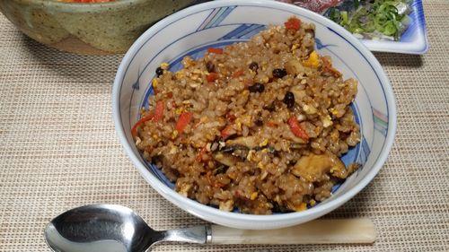 発芽モード玄米ご飯で焼き飯