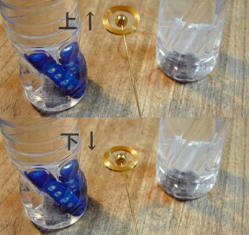 次は左右に元気の水マグステックの還元水を置いて調べました