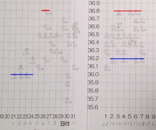 スピード検温の結果を記録しました