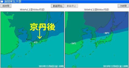 週間寒気予報12.06 9時
