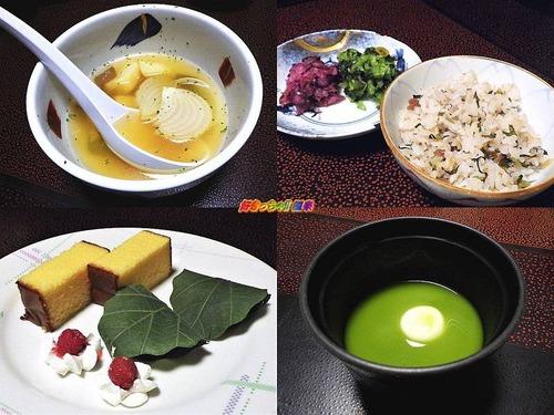 煮物・御飯・漬物・水菓子・梅椀