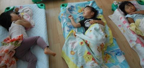 2歳児お昼寝