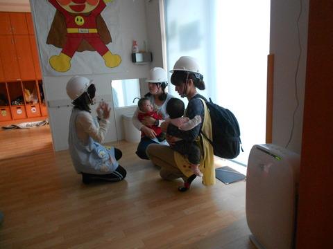 0歳児避難訓練