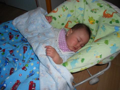 0歳児寝顔