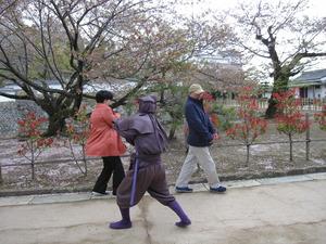 姫路城の忍者