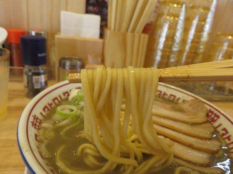 肉中華そばムタヒロ 麺上げ