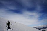 尾瀬 至仏山でリサイクルスノーボーディング