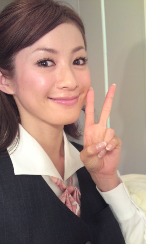 高垣麗子の自撮り画像