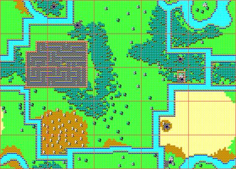 [RPG]ハイドライド/(3)レベリング_01地上全体マップ