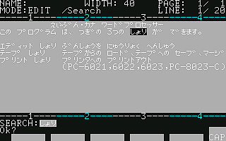 [UTL]PC-6001mkII応用プログラム集 / (2)内容紹介その2 03TAPEパソワード