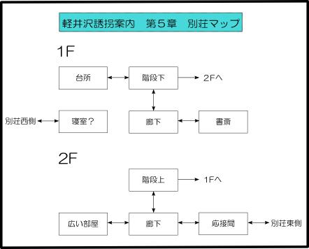 軽井沢誘拐案内/(6)第5章(前編) 12別荘マップ