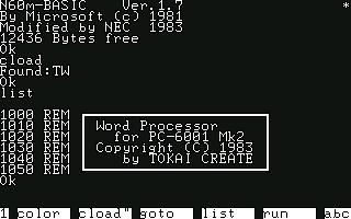 [UTL]PC-6001mkII応用プログラム集 / (2)内容紹介その2 01TAPEパソワード