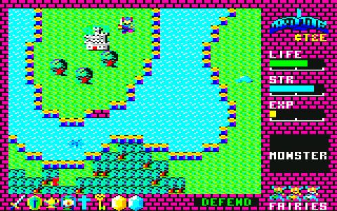 [RPG]ハイドライド/(8)ドラゴン討伐~LIFE90_06水路出入3口