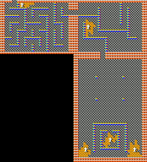 [RPG]ハイドライド/(8)ドラゴン討伐~LIFE90_12バラリス城マップ