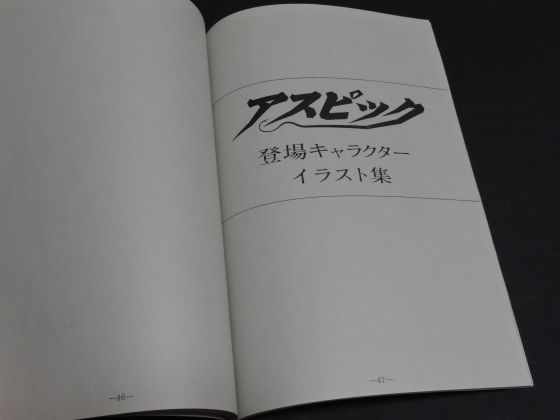 [RPG]アスピック/(2)ゲーム紹介_15取扱説明書(3)_イラスト集表紙