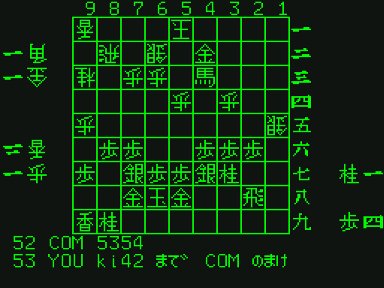 [TBL]将棋対局 / (2) Bonanza6と対戦させてみた 07先手:Bonanza_53手目先手4ニ金打(投了)3