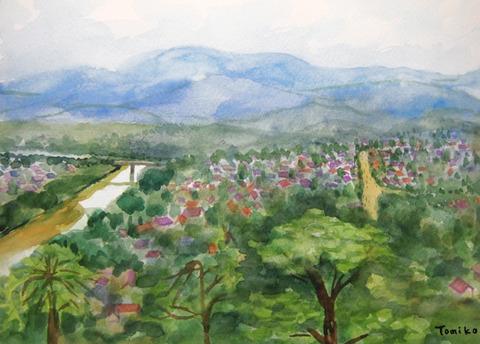 「プーシーの丘」から眺めたルアンパバーン