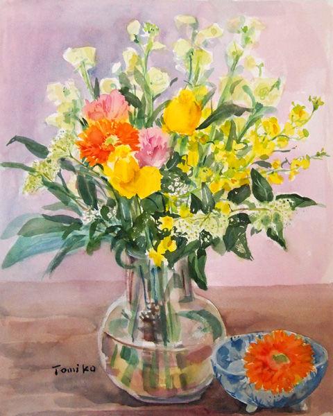 花束を描く