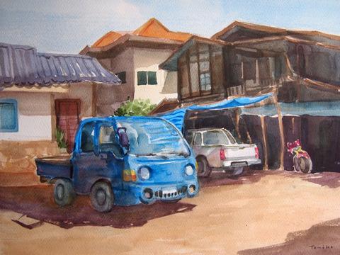 ルアンパバーンの村