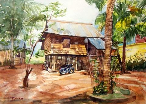 カンボジアの民家