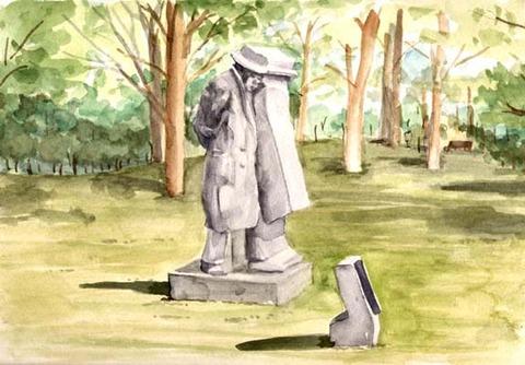 宮沢賢治の像