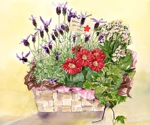 母の日の花篭