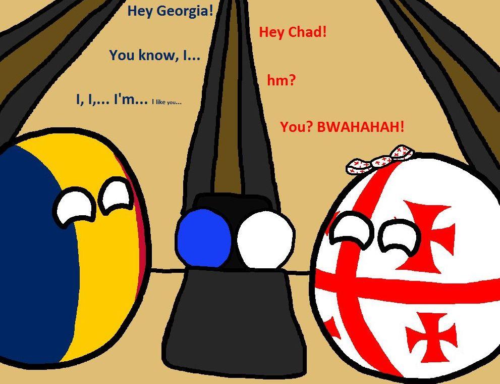 165 6 チャド「やあ、グルジア!」 グルジア「ハーイ、チャド!」 チャド「あ、あ…あのさ…」