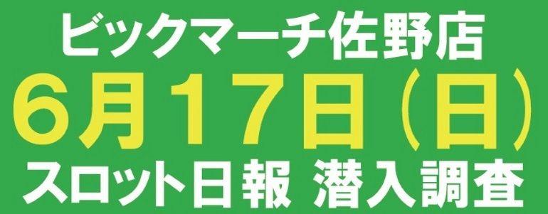 【3台並びの456 結果報告】6月17日ビクマ佐野店