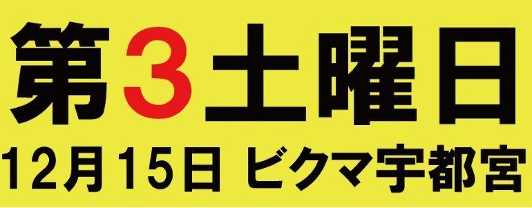 【 第3土曜日 潜入調査】12月15日 ビクマ宇都宮店