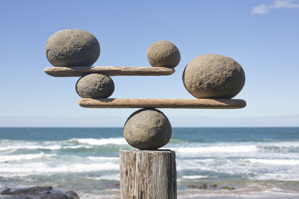 rocks-balancing-on-driftwood--sea-in-background-15308