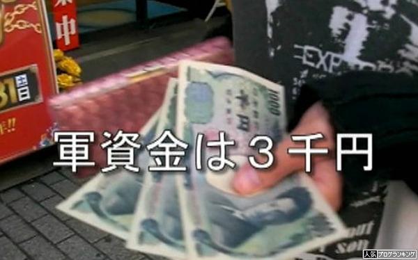 パチンコ打つのに3000円では無理