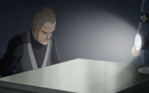 アニメBORUTO47話、木ノ葉警務部隊の取り調べを受けるゲッコウ