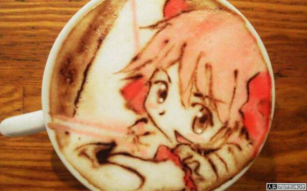 まどかマギカのコーヒーアートいっちょ!
