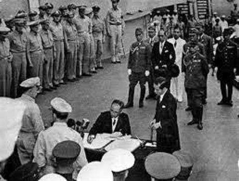 日本降伏文章調印式4