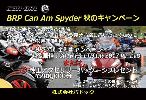 【パドック限定!】スパイダー特別低金利キャンペーン