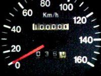 車100000kmの瞬間