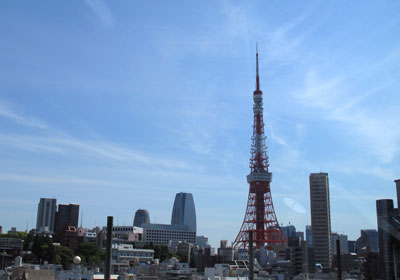 首都高からの東京タワー