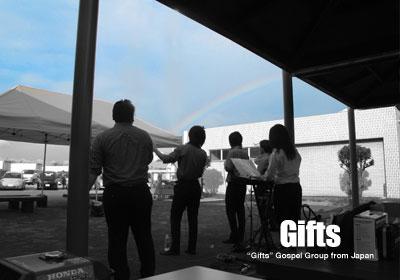 090805岐阜県のサービスエリアの虹