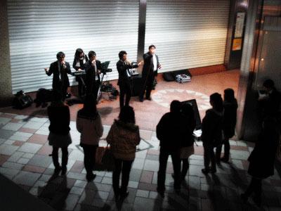 名古屋での路上ライブ