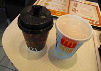 マックでコーヒー