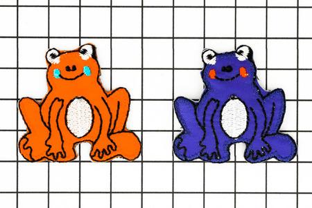 ワッペン 蛙 カエル