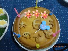 ケーキ自体が地味なので。。。
