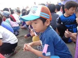 小学校の運動会へ参加